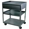 Ideal MC21D Stainless Utility Cart with Drawer