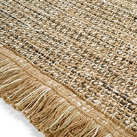 Elitis Havana Smoke.  Honey yellow jute and chenille luxurious area rug.  Click for details and checkout >>