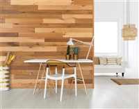 Calico Multi Brown Real Wood Peel and Stick Wall Planks.  Click for details and checkout >>