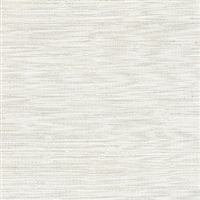 Elitis Panama VP 710 01.  Cream solid color sisal stripe vinyl textured wallpaper.  Click for details and checkout >>