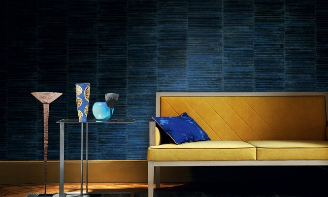 Midnight Blue Faux Leather Wallpaper For A Wall Free