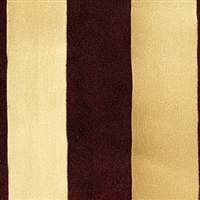 Elitis Tempo TP 220 03.  Gold and Brown Barber Poll Stripe Wallpaper.  Click for details and checkout >>