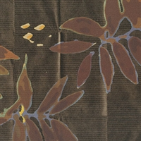 Elitis Pleats TP 181 04.  Dark Brown Floral Wallpaper.  Click for details and checkout >>