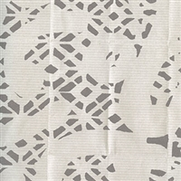 Elitis Pleats TP 183 01.  Off White Lacey Print Wallpaper.  Click for details and checkout >>