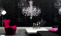Elitis Pleats TP 200 01.  Haunted Chandelier Wallpaper.  Click for details and checkout >>