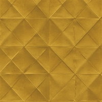 Elitis Pleats TP 170 06.  Golden Yellow Diamond Wallpaper. Click for details and checkout >>