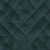 Elitis Pleats TP 170 09.  Blue Diamond Tufted Wallpaper.  Click for details and checkout >>
