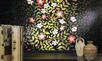 Elitis Perles VP 914 01 floral embossed vinyl panoramic mural.  Click for details and checkout >>