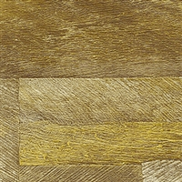 Elitis Nomades VP 893 11.  Reclaimed Golden Yellow Wood Plank Wallpaper. Click for details and checkout >>