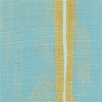 Elitis Nomades VP 895 41.  Blue and yellow stripe silk and linen weave vinyl wallpaper for a wall. Click for details and checkout >>
