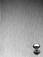 Brushed Aluminum Plastic Laminate.  Click for details and checkout >>