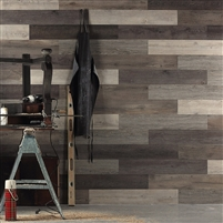 Scrap Wood Wall Peel and Stick Wall Planks.  Click for details and checkout >>