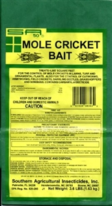 Mole Cricket Bait (5% Carbaryl) - 9 Lbs.
