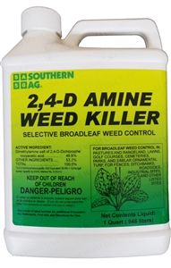 S.A 2,4-D Amine Weed Killer Herbicide - 1 Quart
