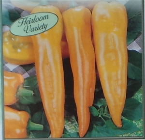 Pepper Yellow Hungarian Hot Seed Heirloom - 1 Packet