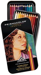 PREMIER PRISMACOLOR PENCIL 36/TIN-ASSORTED COLORS