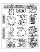 MINI BLUEPRINTS 8 CLINGS BY TIM HOLTZ-STAMPERS ANONYMOUS CMS231
