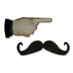 SIZZIX MOVERS & SHAPERS MAGNETIC DIE 2PK - MUSTACHE & POINTED FINGER