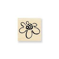MINI CHIC FLOWER WOOD BLOCK STAMP BY STAMPENDOUS