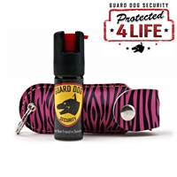 Soft Case Pepper Spray (Pink Zebra)