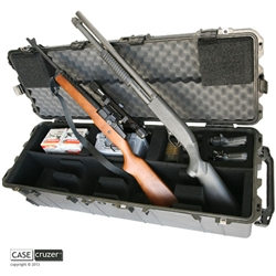 GunCruzer 2N2 GunPOD carrying case holds two rifles or shotguns and two handguns.