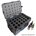 24 Bottle Wine Carrier with Wheels - WineCruzer