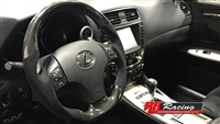 Custom Carbon Fiber Steering Wheel for Lexus ISX