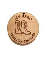 My Hero Wears Combat Boots Medallion