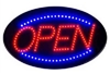 RED & BLUE LED OPEN SIGN