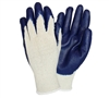 BLUE PALM COTTON GLOVES MED