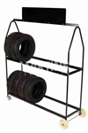 2 TIER 72  TIRE DISPLAY 4 WHL