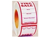 TIRE SALE LABELS (500) RED