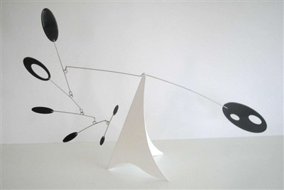 black white mid-century modern hanging tabletop mobile