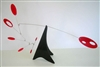 red black modern calder style hanging tabletop mobile