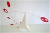 red and white modern calder style hanging tabletop mobile