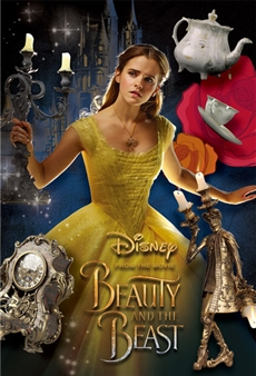 "Disney Beauty and the Beast ""Bell and Friends"" 3D Lenticular Card"