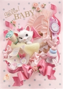 Disney The Aristocats Marie Hello BABY 3D Lenticular Greeting Card