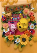 Disney Winnie the pooh Congratulations 3D Lenticular Greeting Card