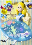 Disney Alice in Wonderland Dress Theater 3D Lenticular Card