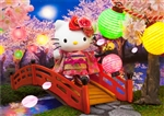 Hello Kitty Night Cherry Blossom 3D Lenticular Greeting Card