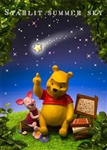 Disney Winnie the Pooh Starlit Summer Sky 3D Lenticular Greeting Card
