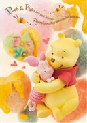 Disney Winnie the Pooh & Piglet Best Friends 3D Lenticular Greeting Card