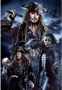Pirates of the Caribbean Captains 3D Lenticular Card