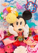 Disney Minnie Japanese Wedding 3D Lenticular Greeting Card
