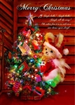 Christmas Tree with Rabbit 3D Lenticular Greeting Card