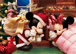 Disney Mickey's Surprise Christmas Gift 3D Lenticular Greeting Card