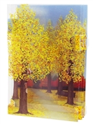Autumn Maple Trees Pop Up Decorative Greeting Card