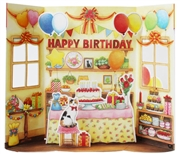 Happy Birthday Party Room Pop Up Greeting Card