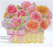 Flower Basket Pop Up Greeting Card