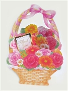 Flower in Basket - Thank You - Pop Up Greeting Card